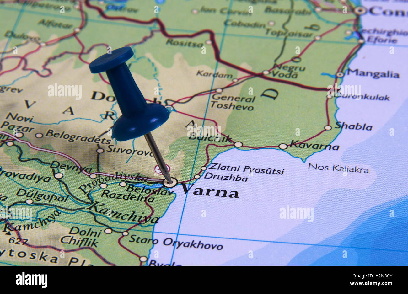 Varna In The Map With Pin Stock Photo Royalty Free Image - Varna map