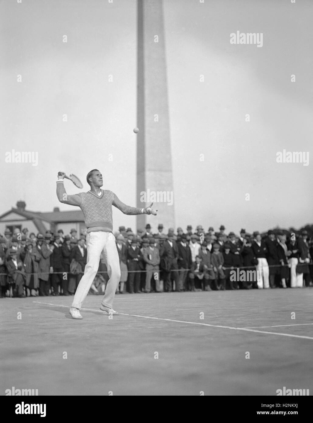 Tennis Player Bill Tilden in Action Washington DC USA National