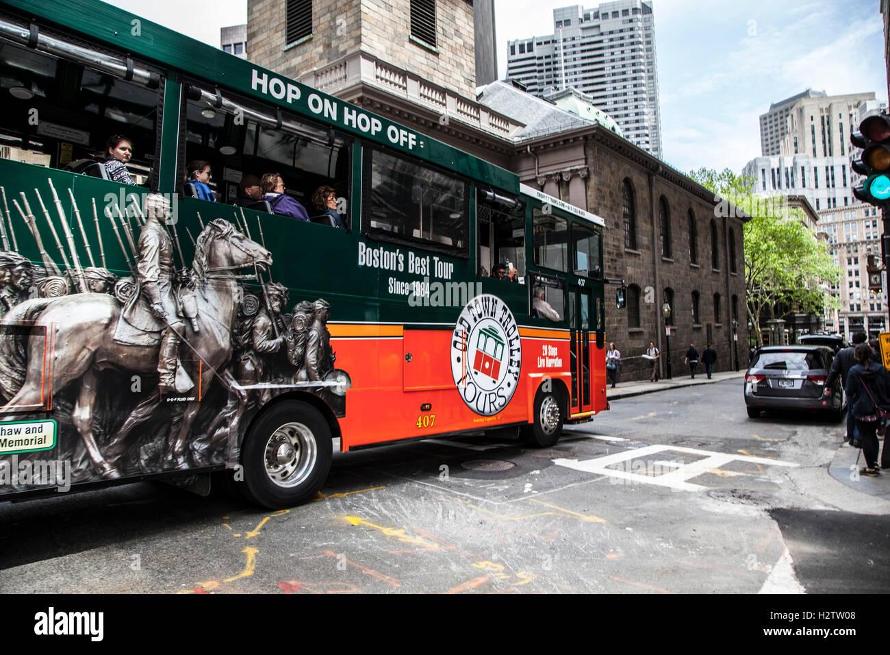 Boston Tour Bus Stock Photo Royalty Free Image 122248344