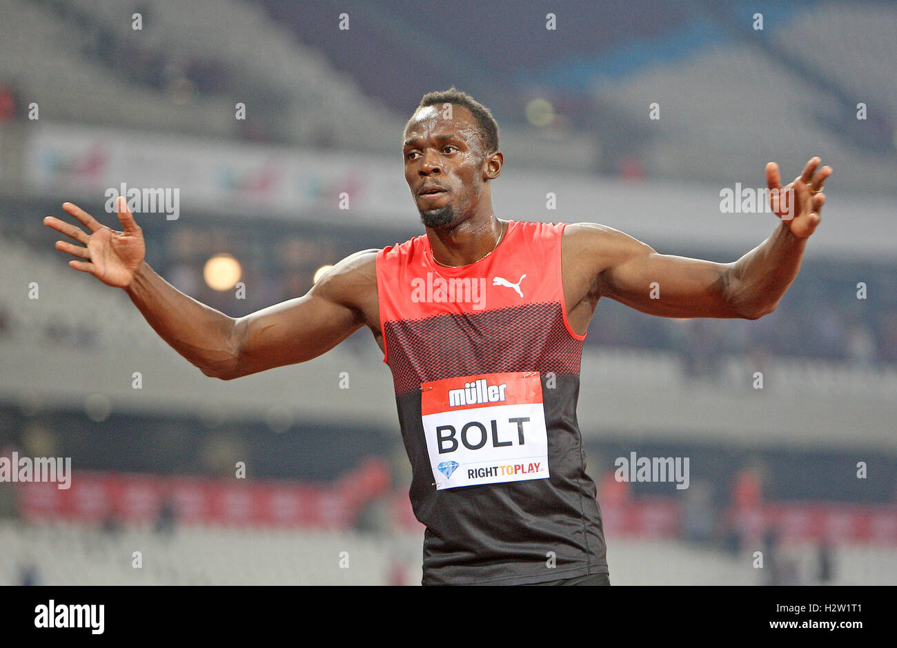 Muller anniversary games at the olympic stadium in london stock