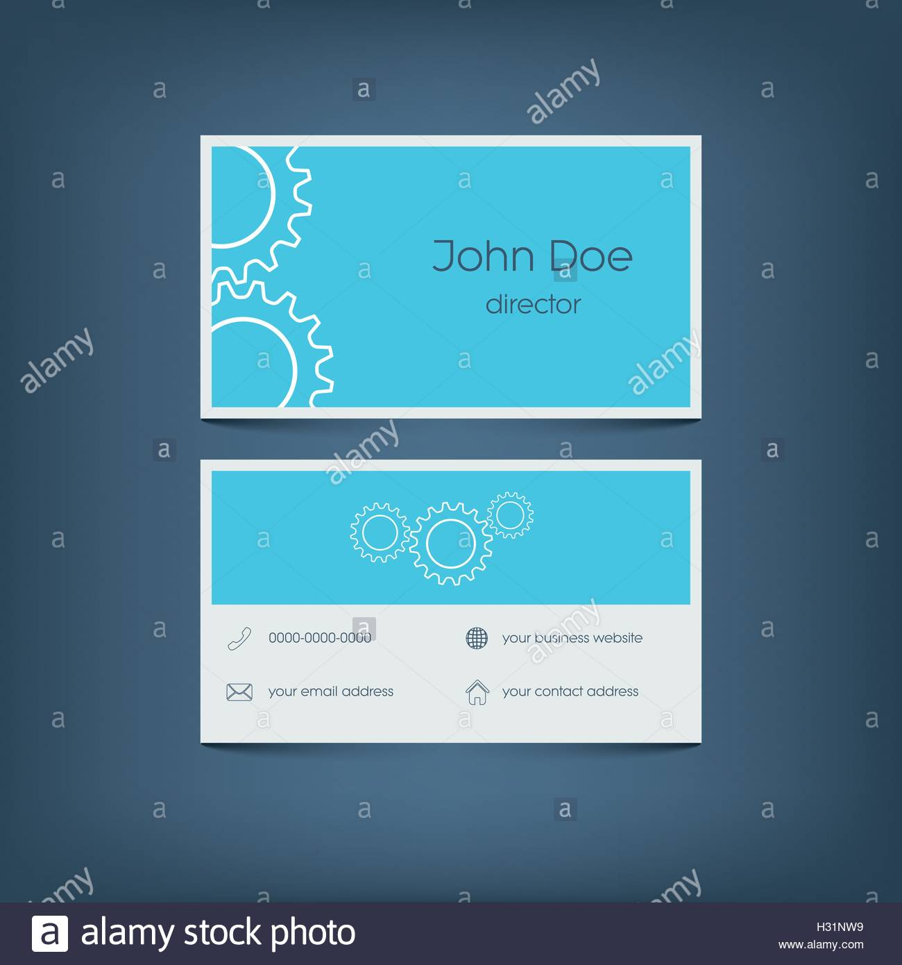 Modern Flat Design Business Card Template Graphic User Interface - Email business card templates