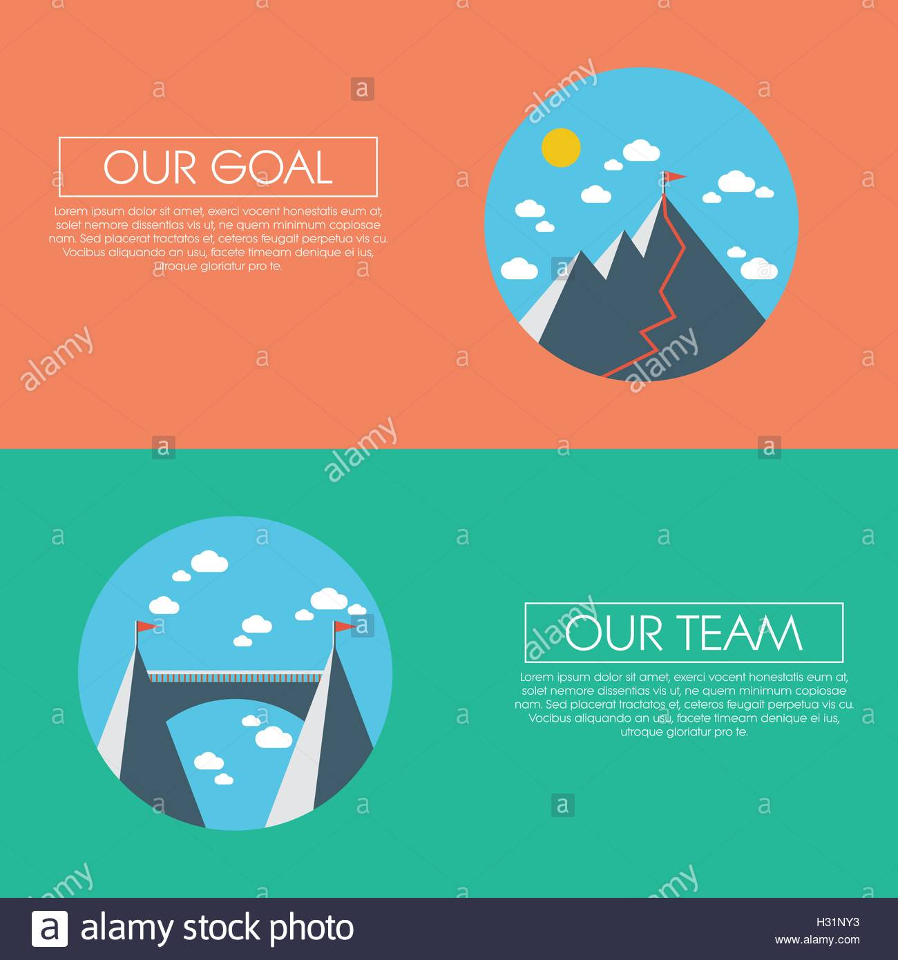 business concept of success, goals, targets, aims and teamwork, Powerpoint templates