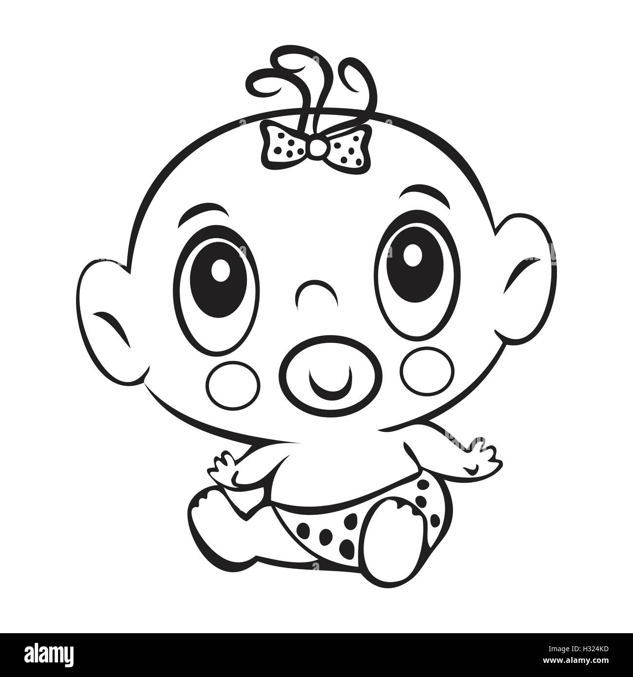 Baby Rattle Girl Coloring Coloring Pages