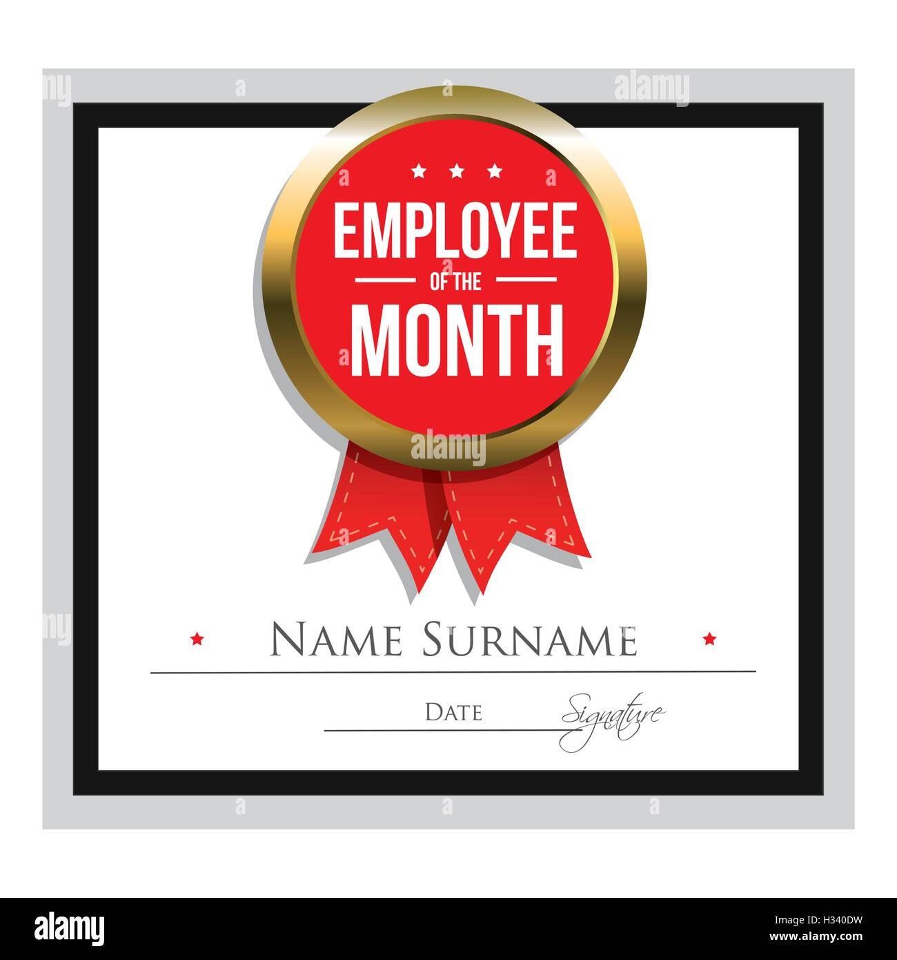Employee of the month certificate template stock vector art employee of the month certificate template pronofoot35fo Image collections