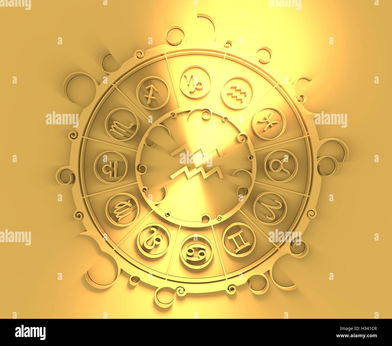 Astrology symbols in golden circle water bearer sign stock photo astrology symbols in golden circle water bearer sign biocorpaavc Choice Image