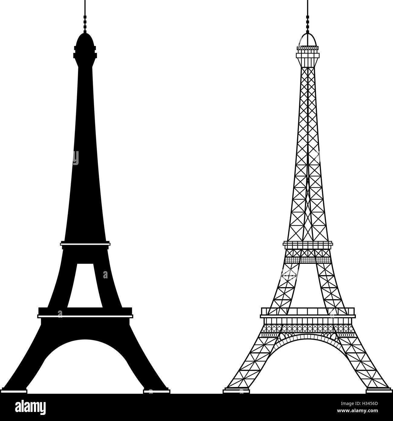 eiffel tower isolated vector illustration stock vector art