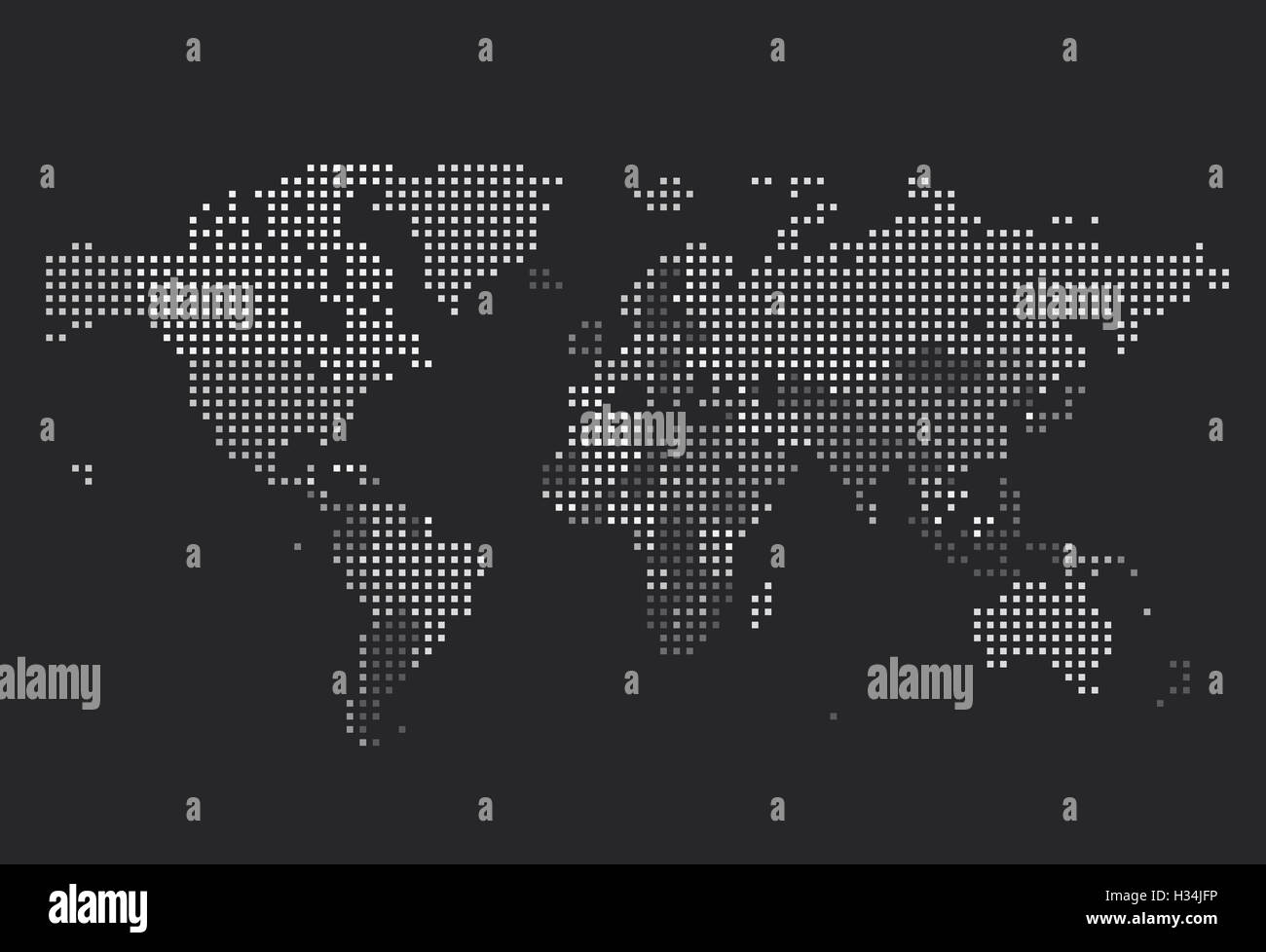 Dotted world map of square dots on dark background stock photo dotted world map of square dots on dark background gumiabroncs Images