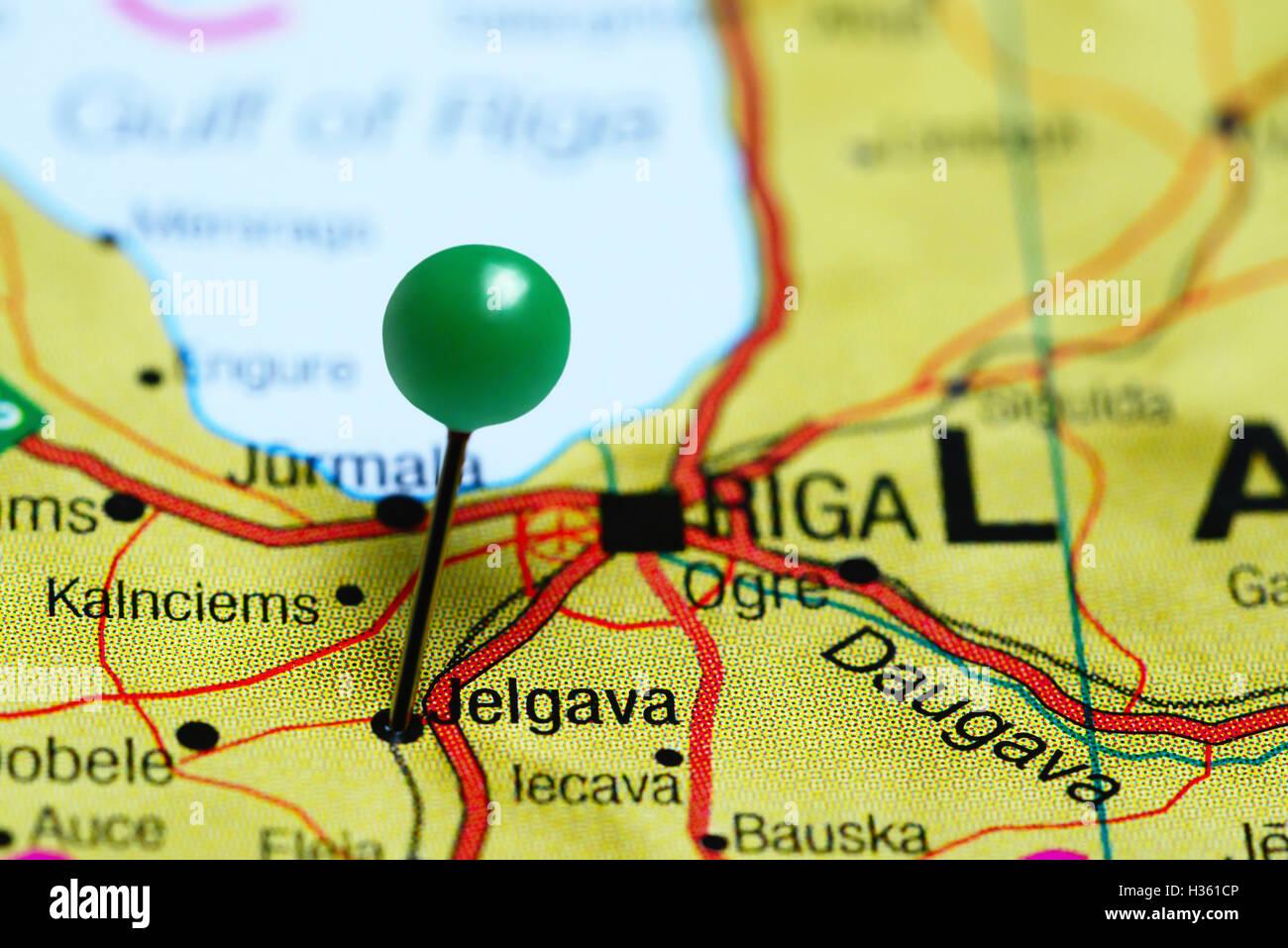 Jelgava pinned on a map of Latvia Stock Photo 122449398 Alamy
