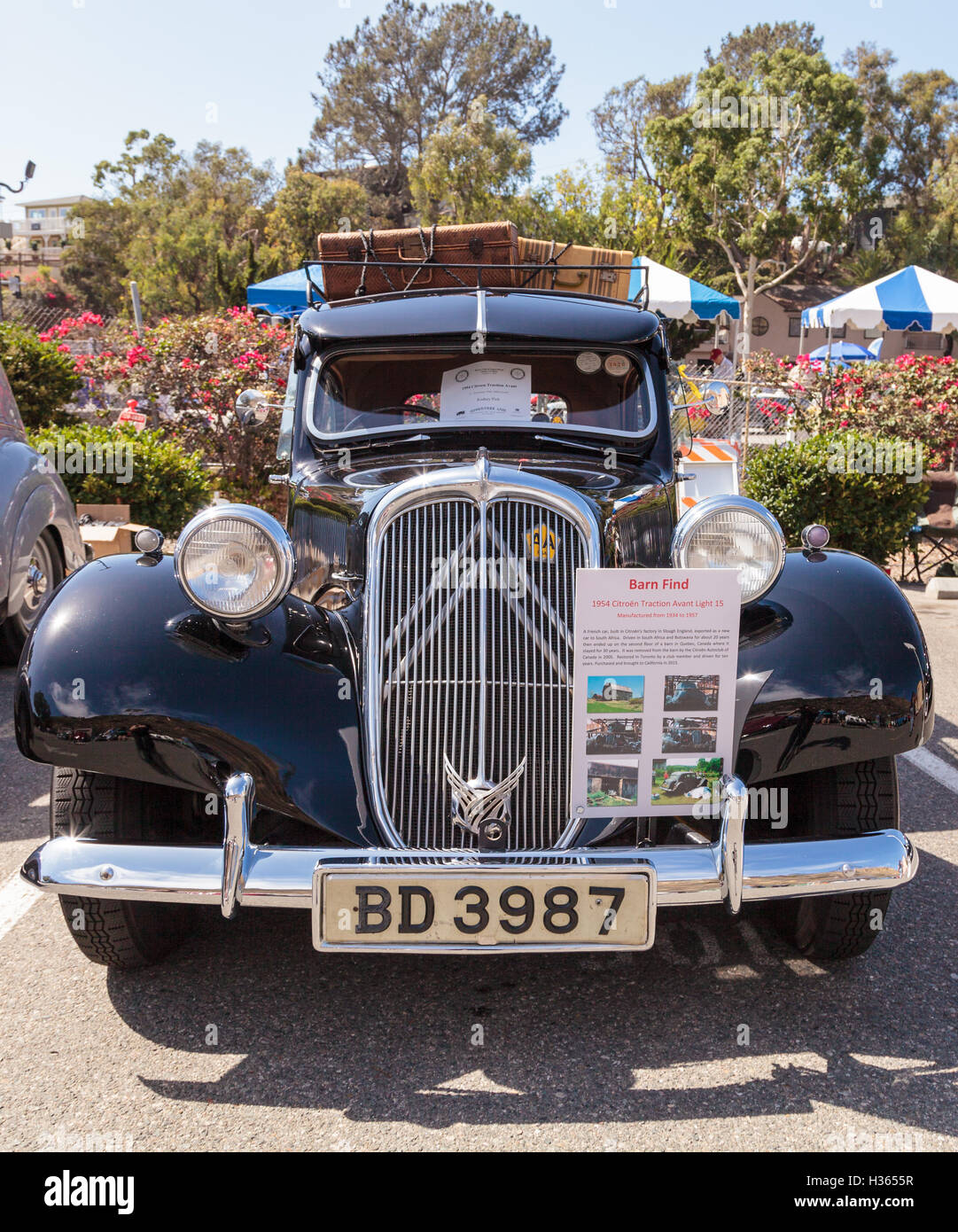 This Black 1954 Citroen Traction Avant Was Driven In South Africa And Botswana For 20 Years