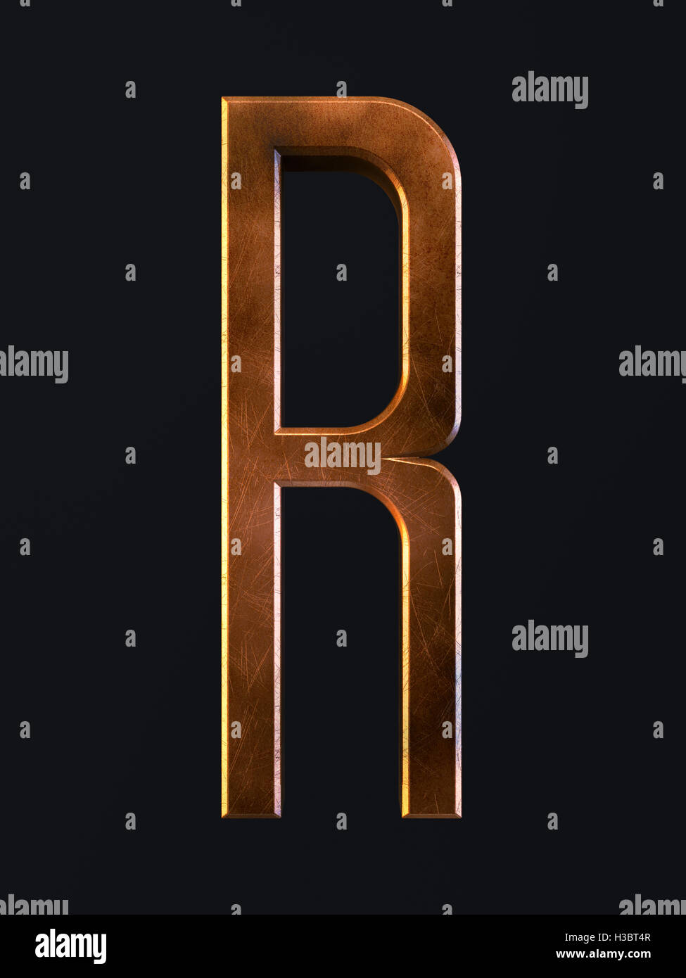 3d render of golden metal dirty rust scratch alphabet letter 3d render of golden metal dirty rust scratch alphabet letter symbol r alphabet character on the dark background biocorpaavc Choice Image