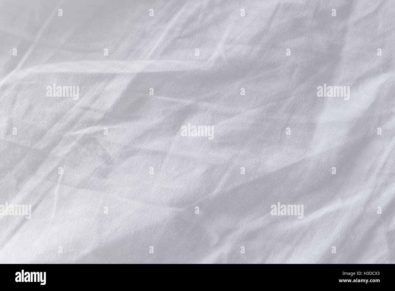 White bed sheets texture - Crumpled Bed Sheets Texture As Background Top View