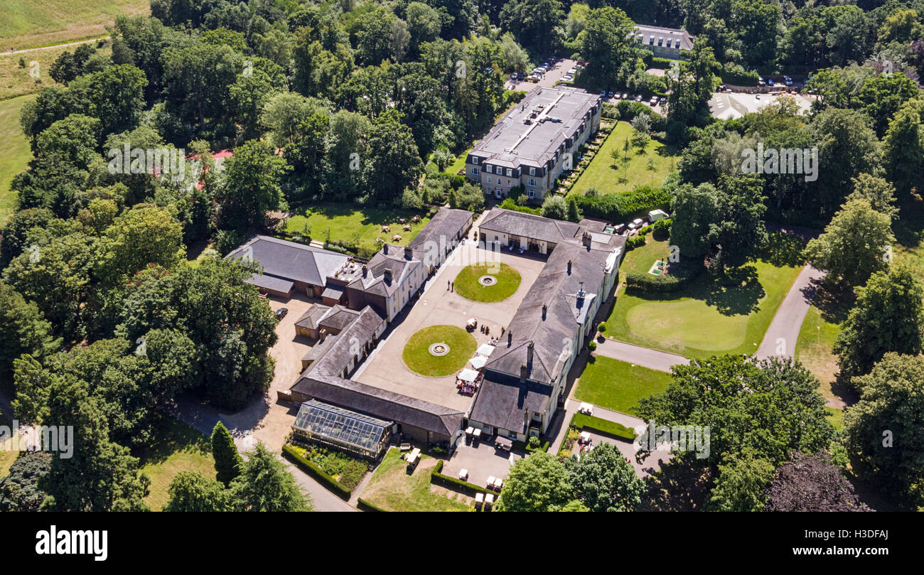 Aerial View Of The Stable Block At Luton Hoo Luxury Hotel