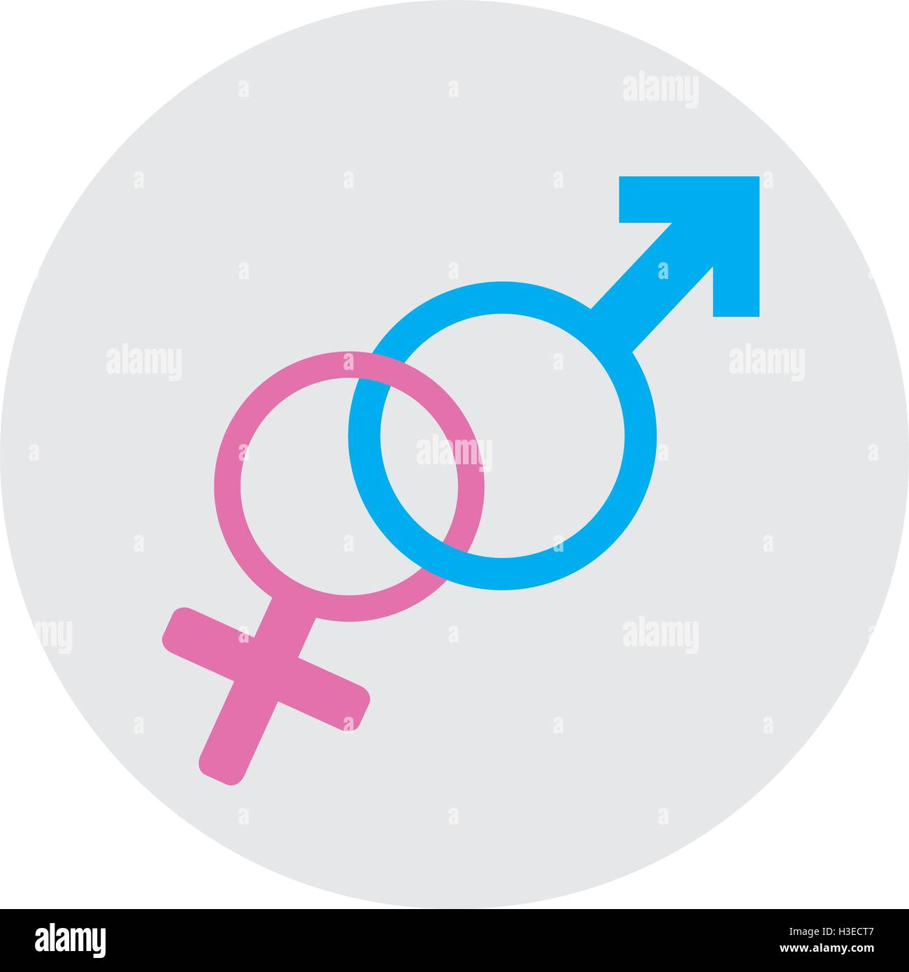 Pair of gender symbols on a colored sticker vector illustration pair of gender symbols on a colored sticker vector illustration buycottarizona