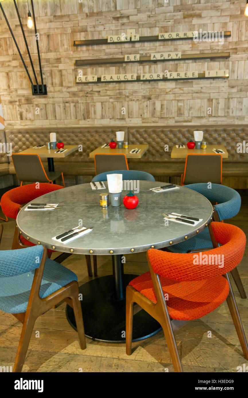 Gourmet Burger Kitchen Outlet In Cabot Circus, Bristol UK.
