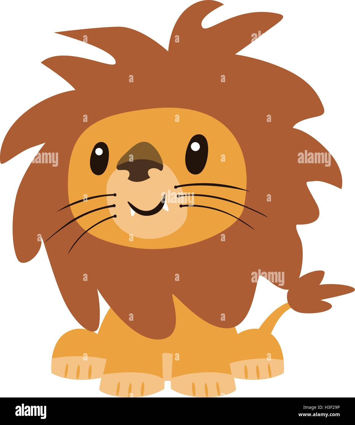 Cute Cartoon Character Design : Cute lion cartoon vector character design stock art