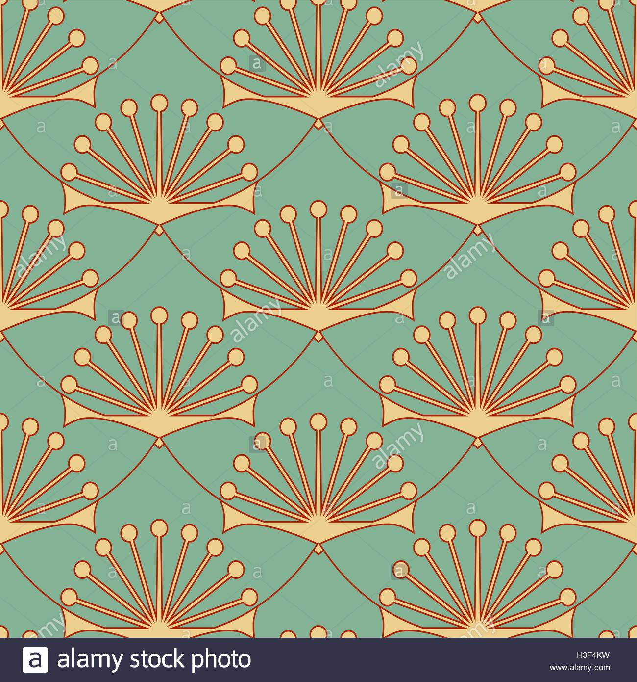 Yoga pattern background seamless pattern with five petals lotus flower - Stylized Lotus Flower Seamless Pattern In Blue And Red Shades Stock Vector
