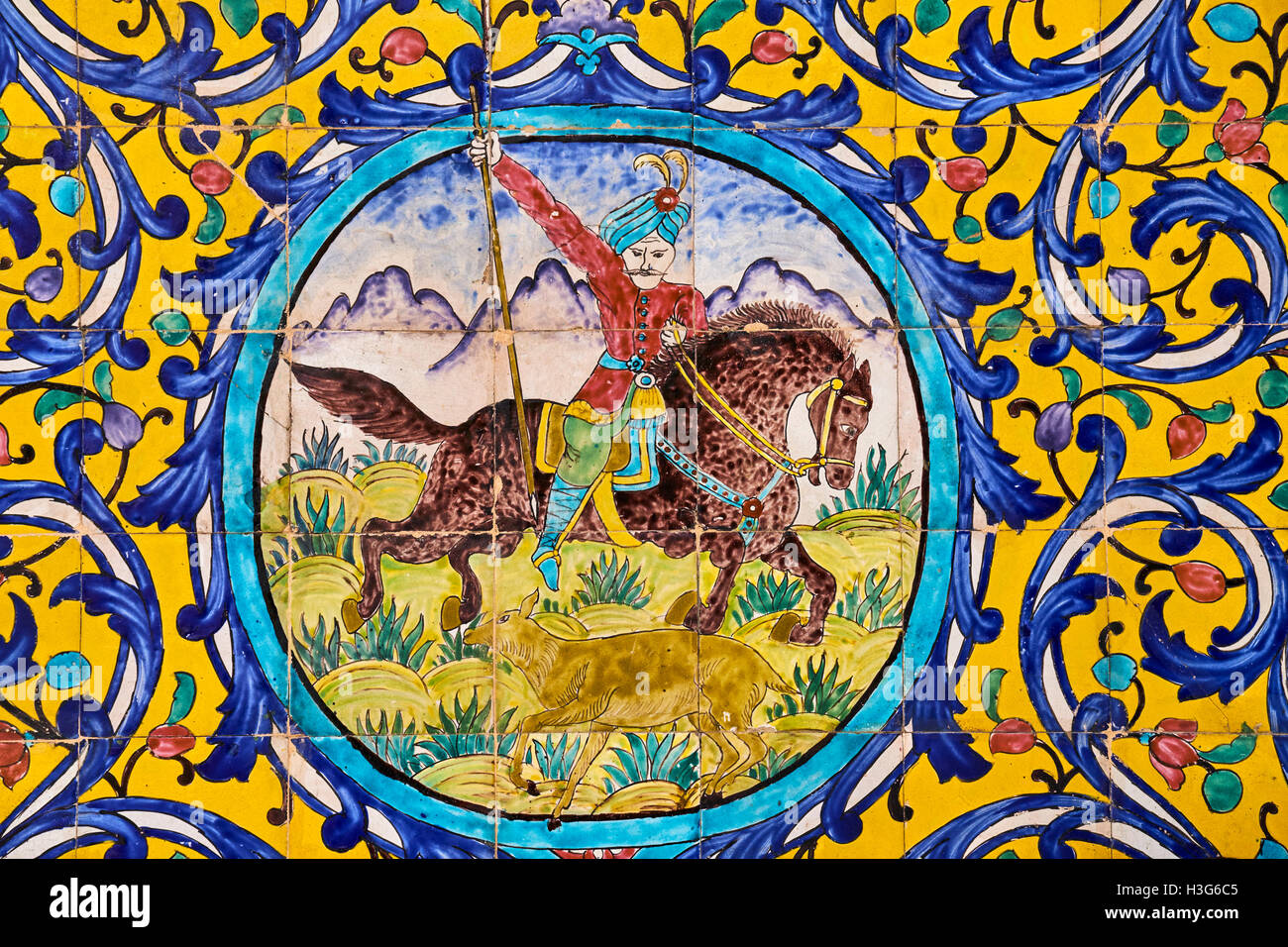 Iran Tehran Golestan Palace World Heritage Of The Unesco Tiled Decorations