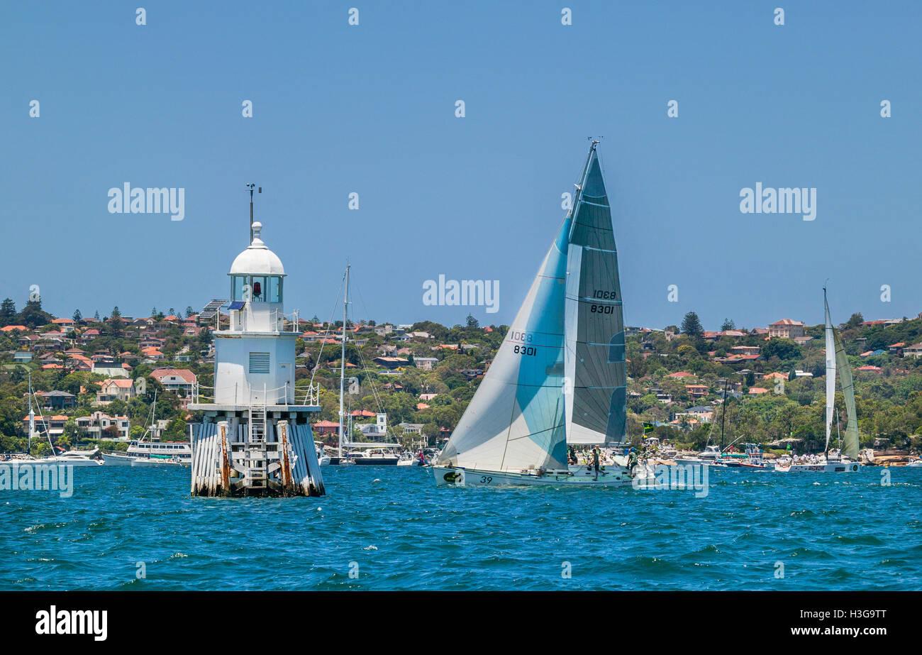 Australia NSW Sydney Harbour Yacht Cadenza Is Passing The - Wedding Cakes Sydney West