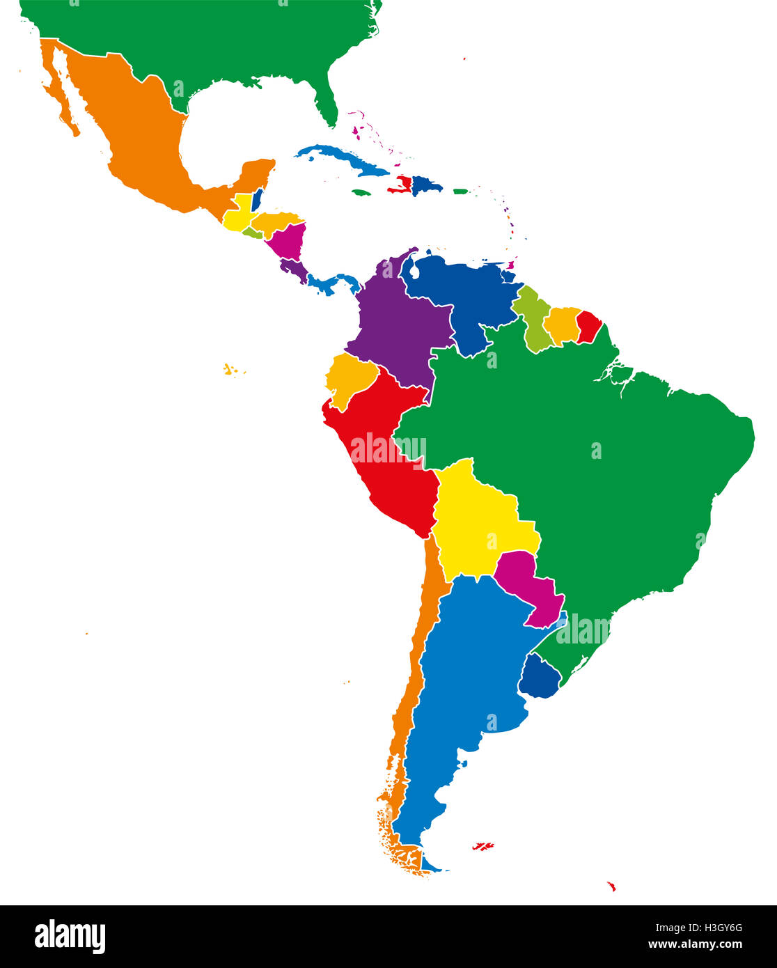 Map Of Countries In Latin America 17