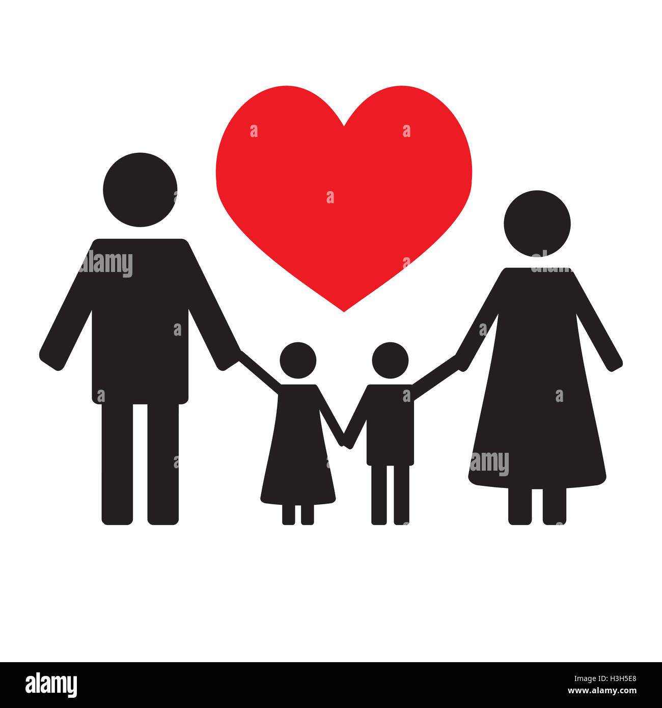 Happy Family Love Family Silhouette And Children Love
