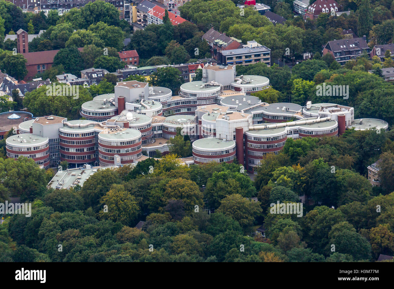 areal view of university campus of university of duisburg essen stock photo royalty free image. Black Bedroom Furniture Sets. Home Design Ideas