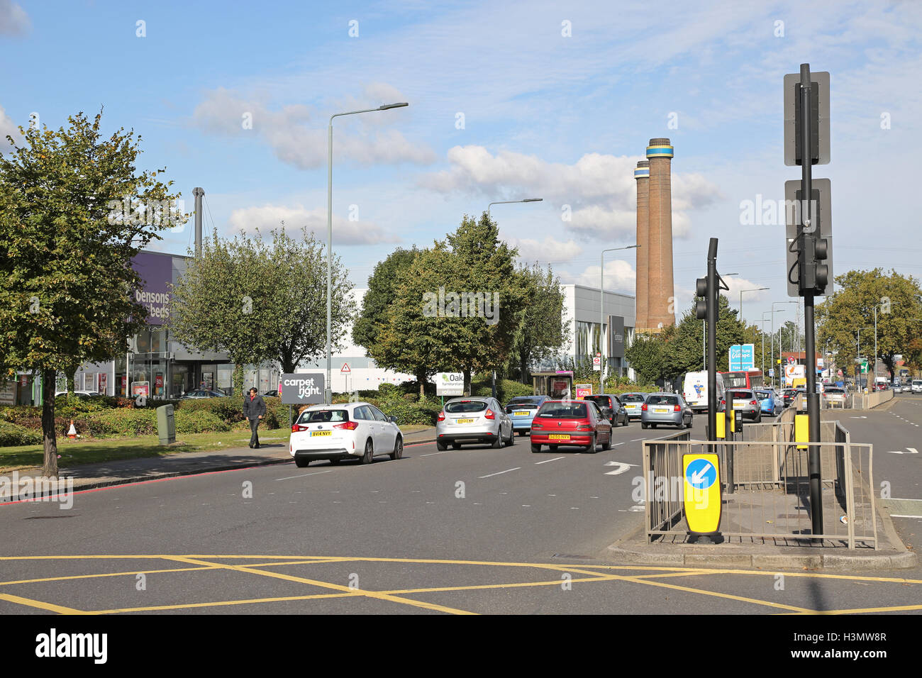 the purley way dual carriageway in croydon uk a major. Black Bedroom Furniture Sets. Home Design Ideas