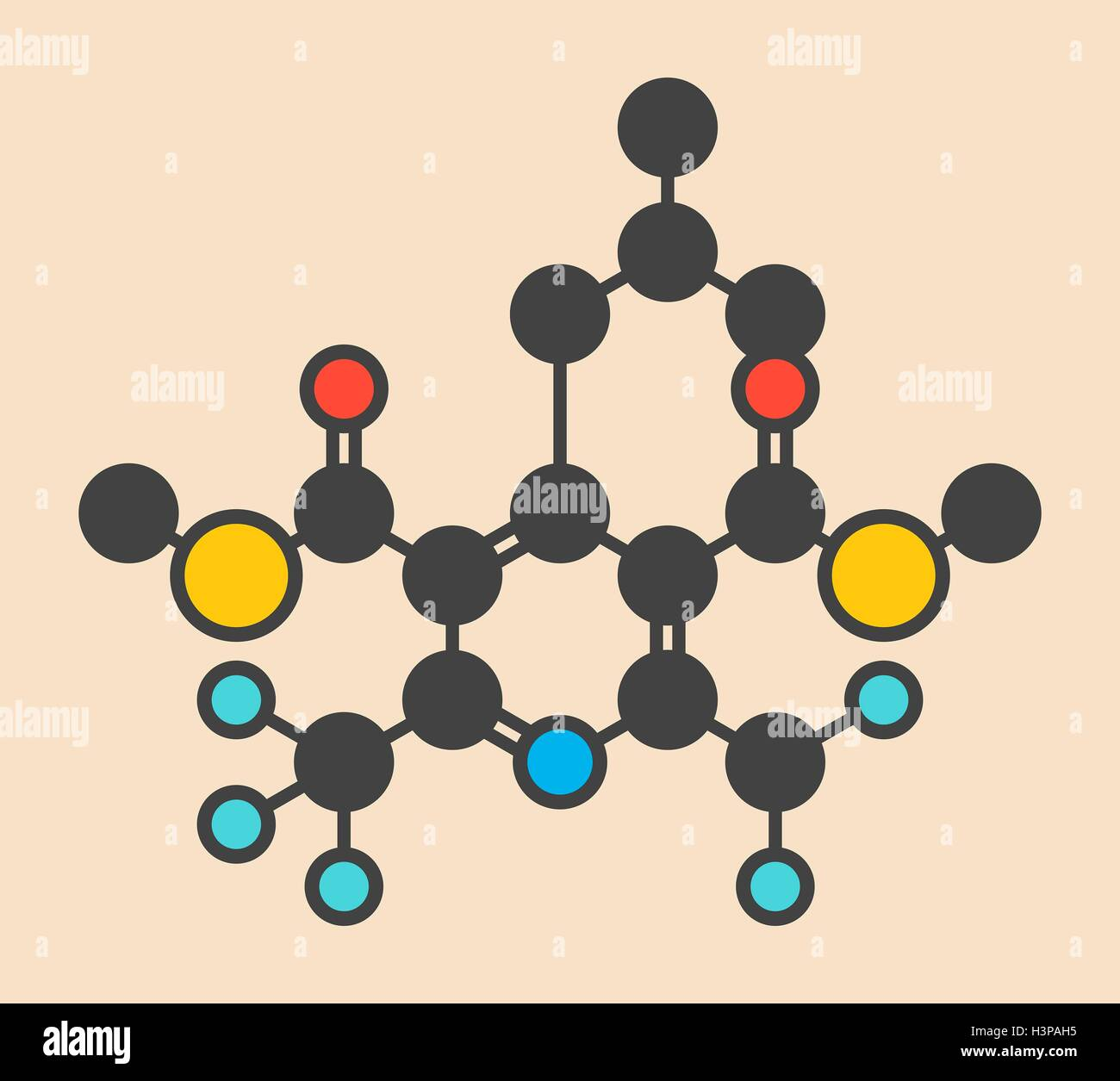 dithiopyr preemergent herbicide molecule stylized skeletal formula chemical structure atoms are shown - Preemergent Herbicide