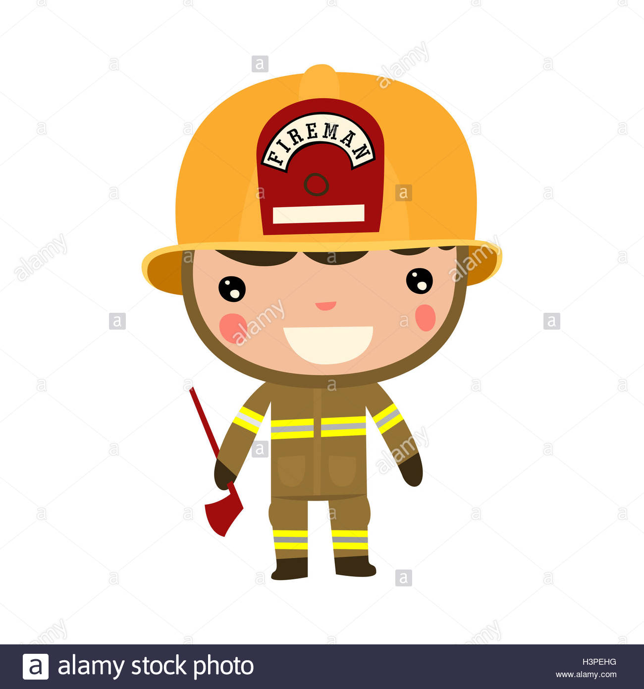 fireman kid profession cute cartoon boy - Cartoon Boy Images Free