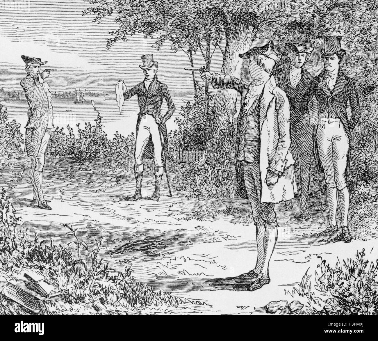 the duel between the alexander hamilton and aaron burr The duel between aaron burr and alexander hamilton is a famous piece of american history, which we are all taught in our history classes heretofore, burr has been painted as the fellow with the black hat and hamilton with the white hat.
