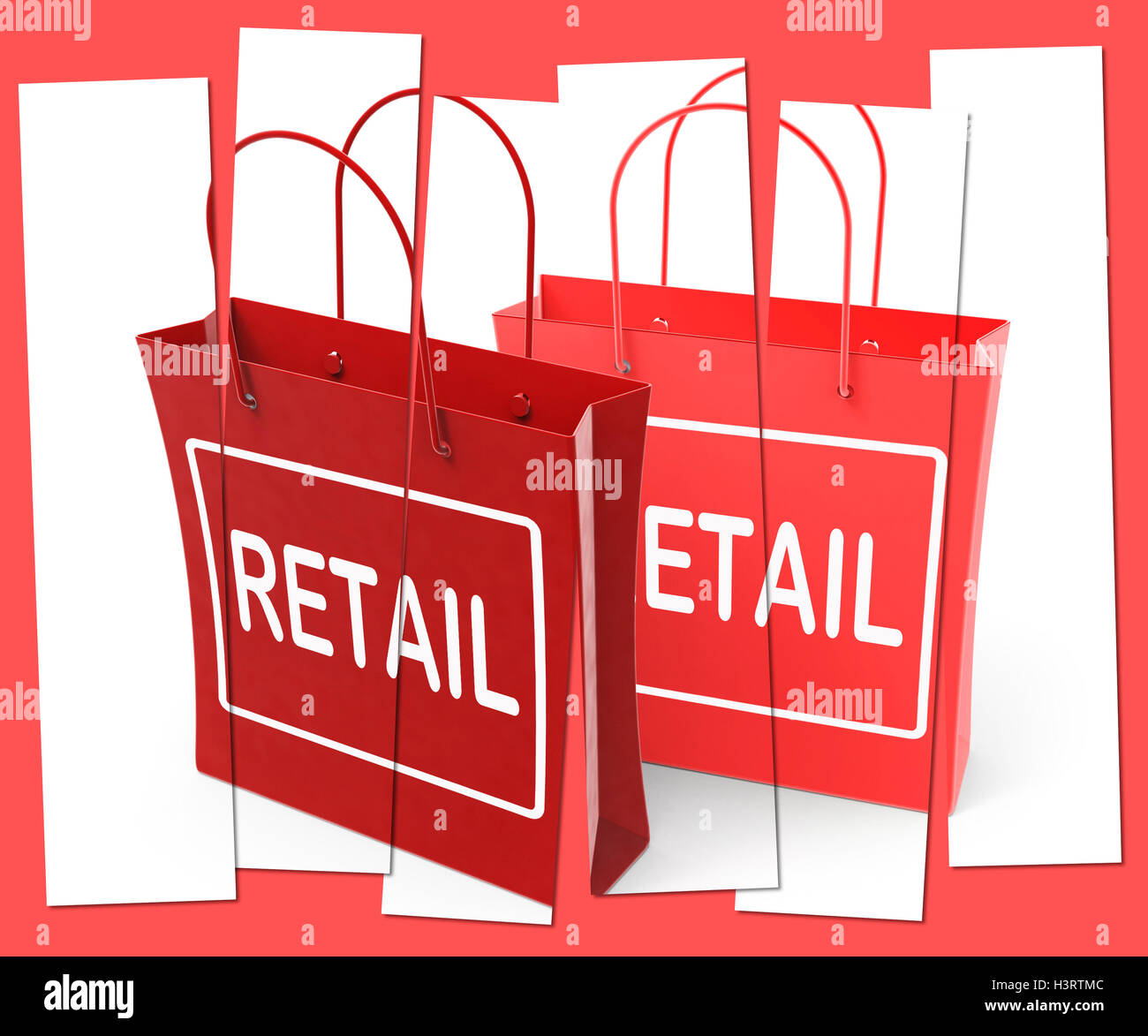Retail Shopping Bags Show Commercial Sales and Commerce Stock ...
