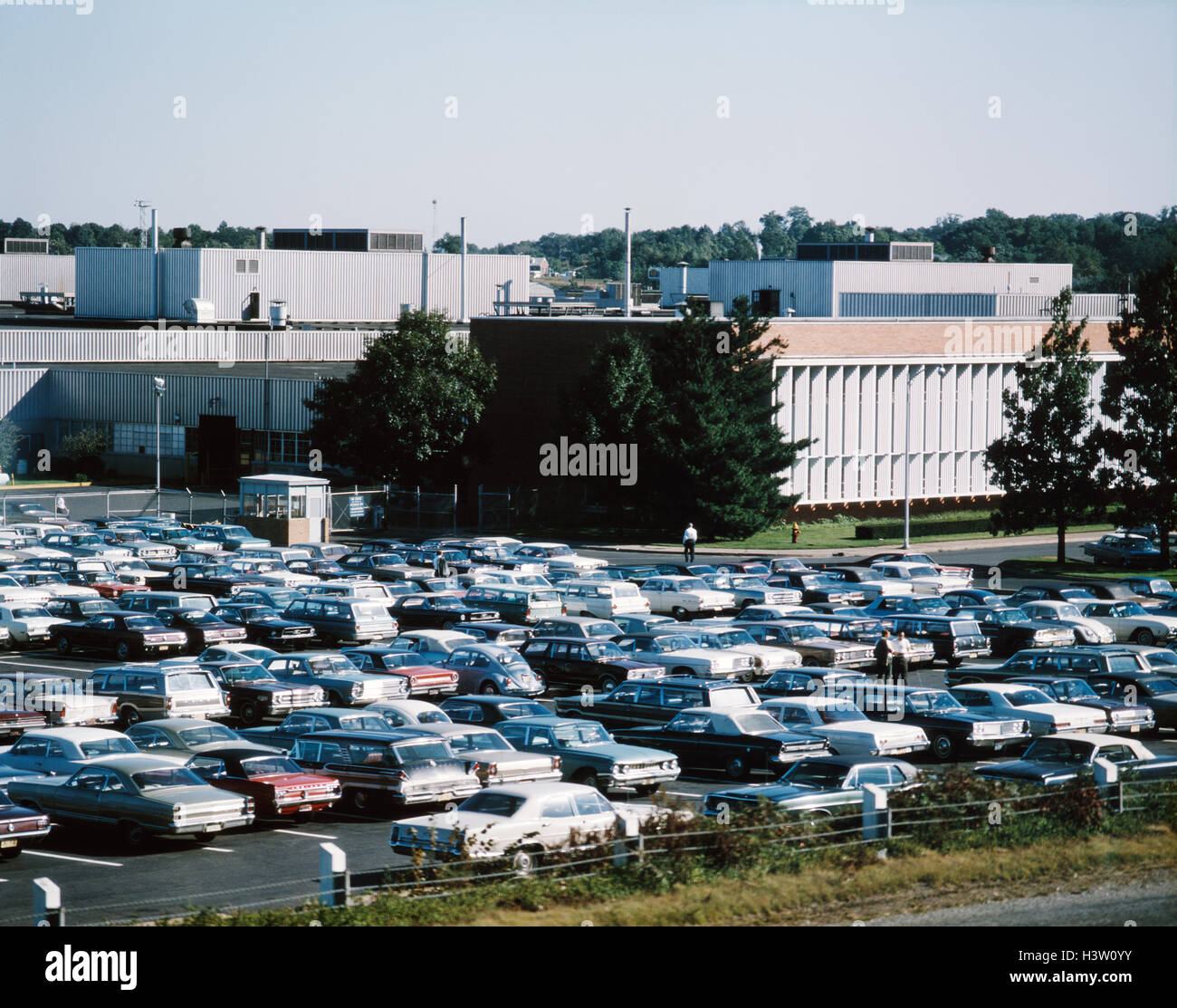 1960s 1970s Ford Motor Plant And Office Parking Lot Cars