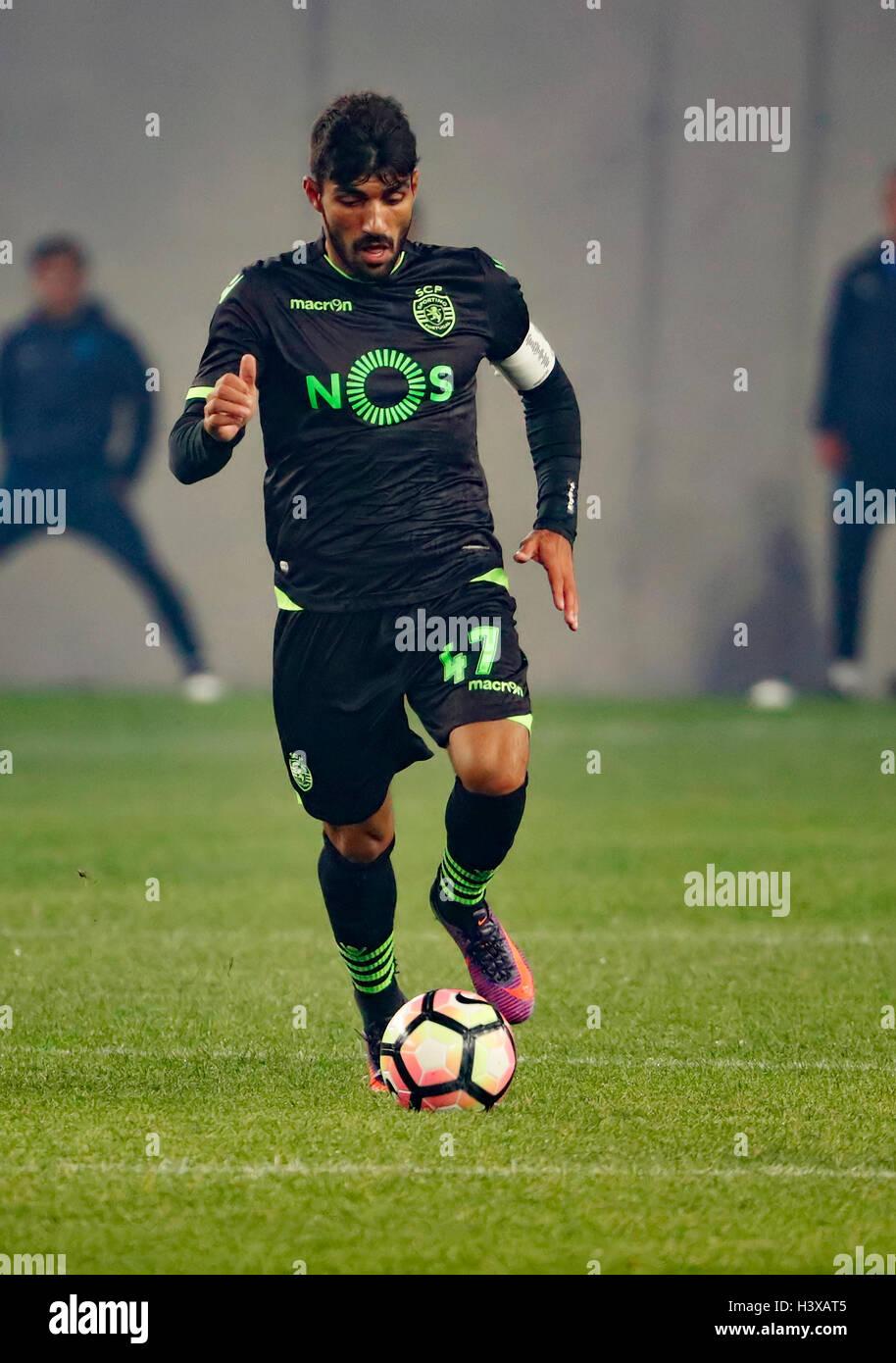 Budapest Hungary 13th Oct 2016 Ricardo Esgaio of Sporting CP