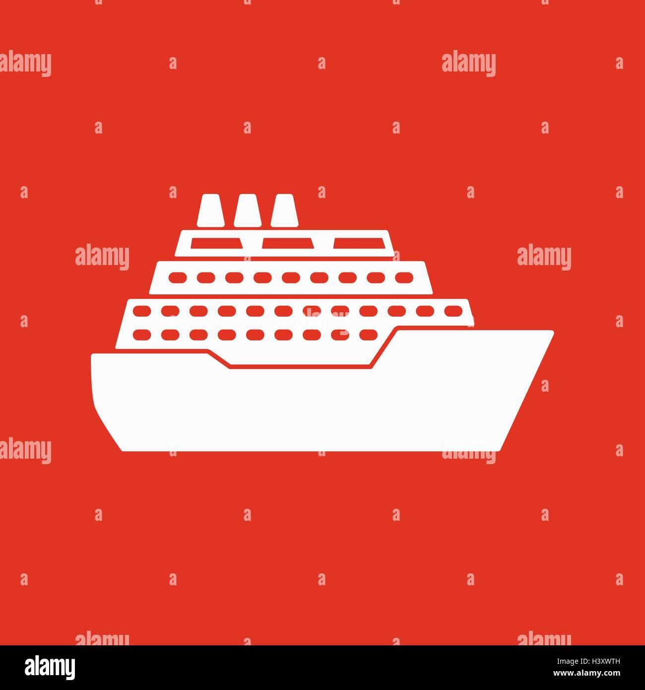 The ship icon travel symbol flat stock vector art illustration the ship icon travel symbol flat buycottarizona