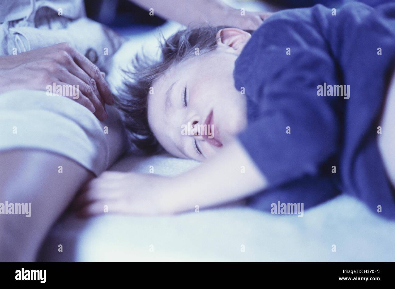 Boy, sleep, nut, detail, hand inside, at home, child, sleep, rest ...