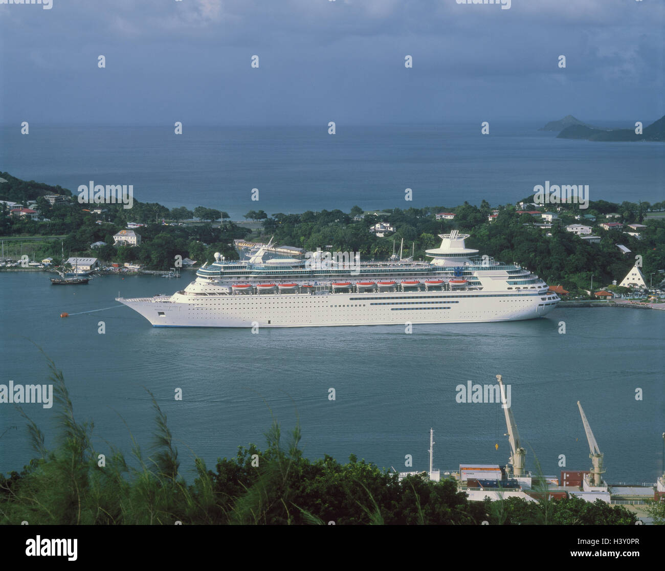 The Caribbean The Small Antilles Saint Lucia Castries Harbour - Small cruise ships caribbean