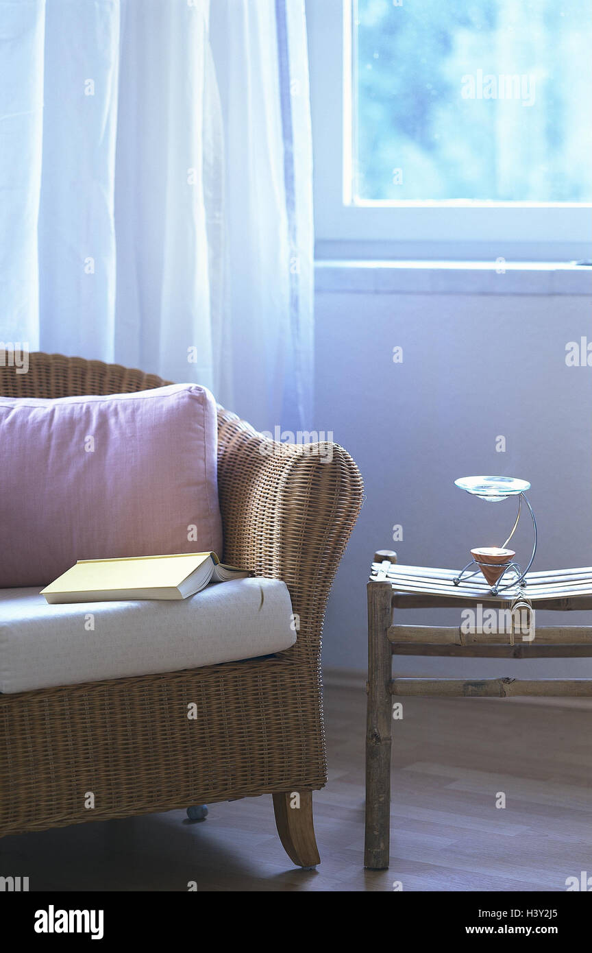Living space detail sofa table odour lamp side table