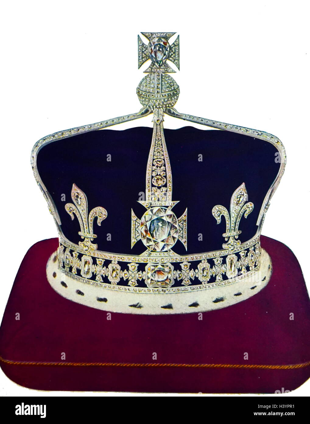 Queen Elizabeth's crown, made by Garrard Stock Photo ...