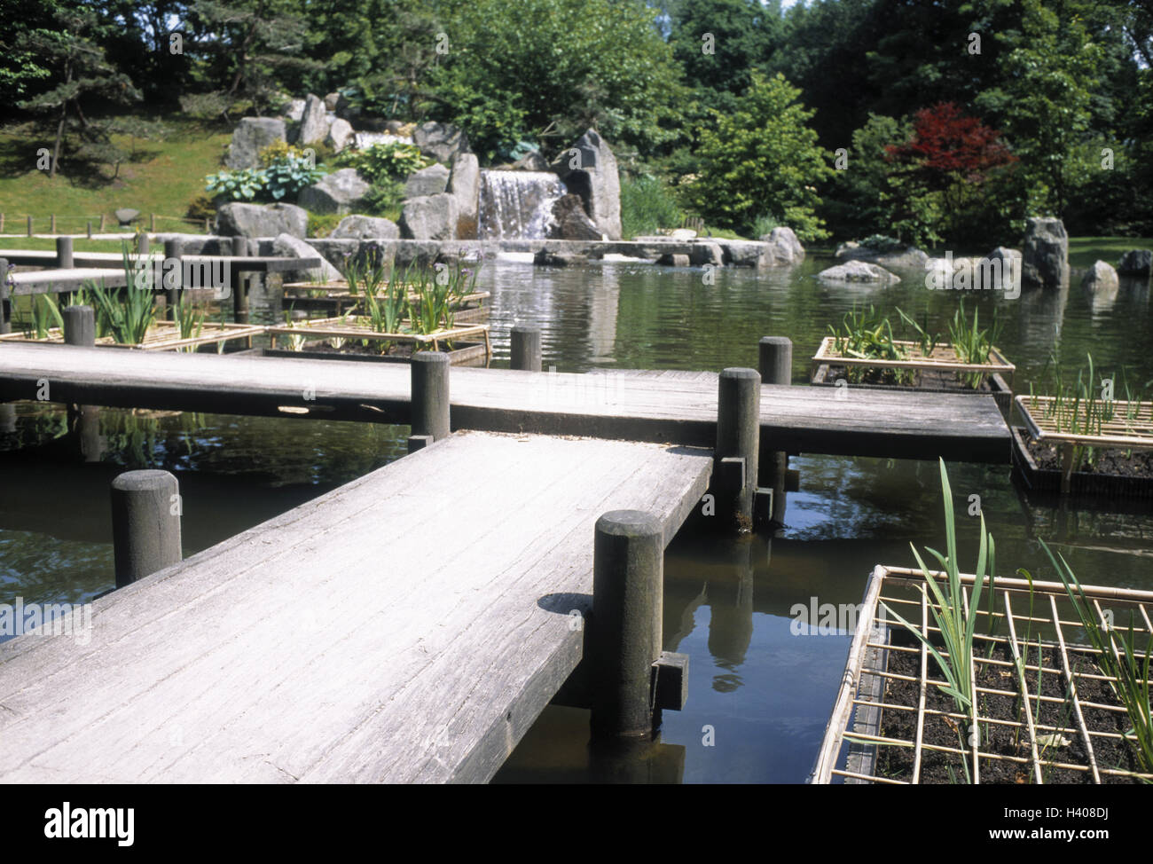 Japanese Landscape Architecture Belgium Hasselt Japanese Garden Pond Wood Bridges Europe