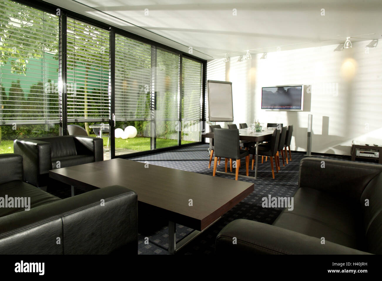 Meeting Room Conference Table Flat Screen Tv Couch