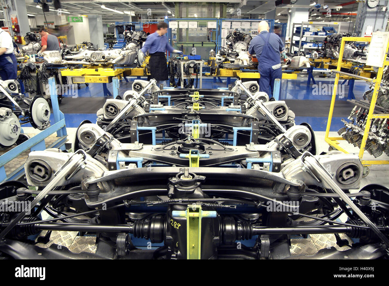 daimlerchrysler opus, mercedes production, editing line, axis