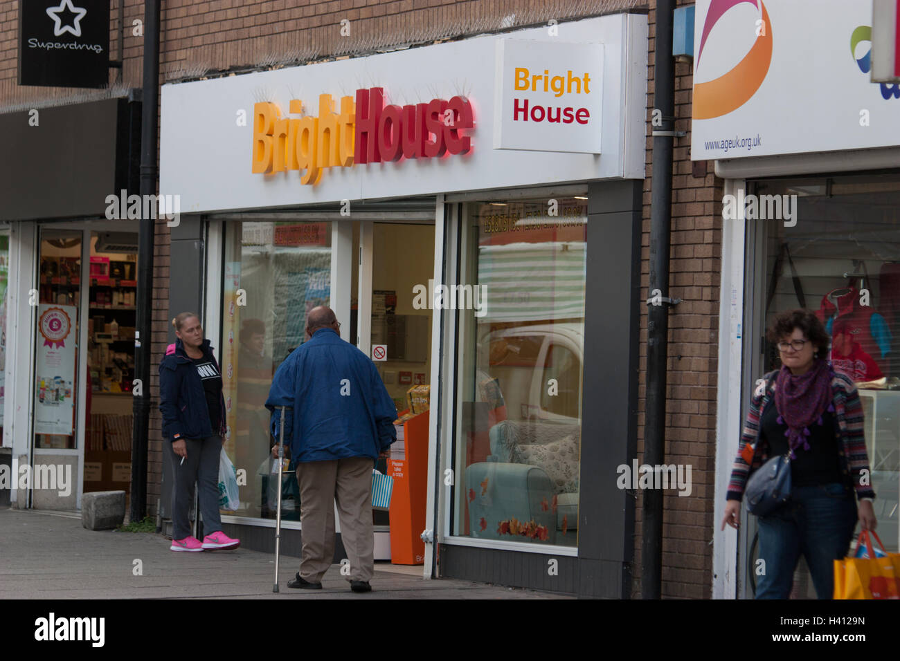 BrightHouse  rent to own retail shop  home electronic and domestic  appliances  and household furniture sales  Walthamstow High Street. BrightHouse  rent to own retail shop  home electronic and domestic