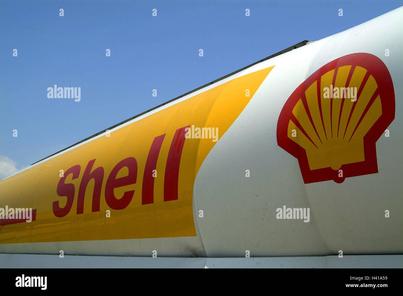 tanker detail shell logo truck tank truck tank oil