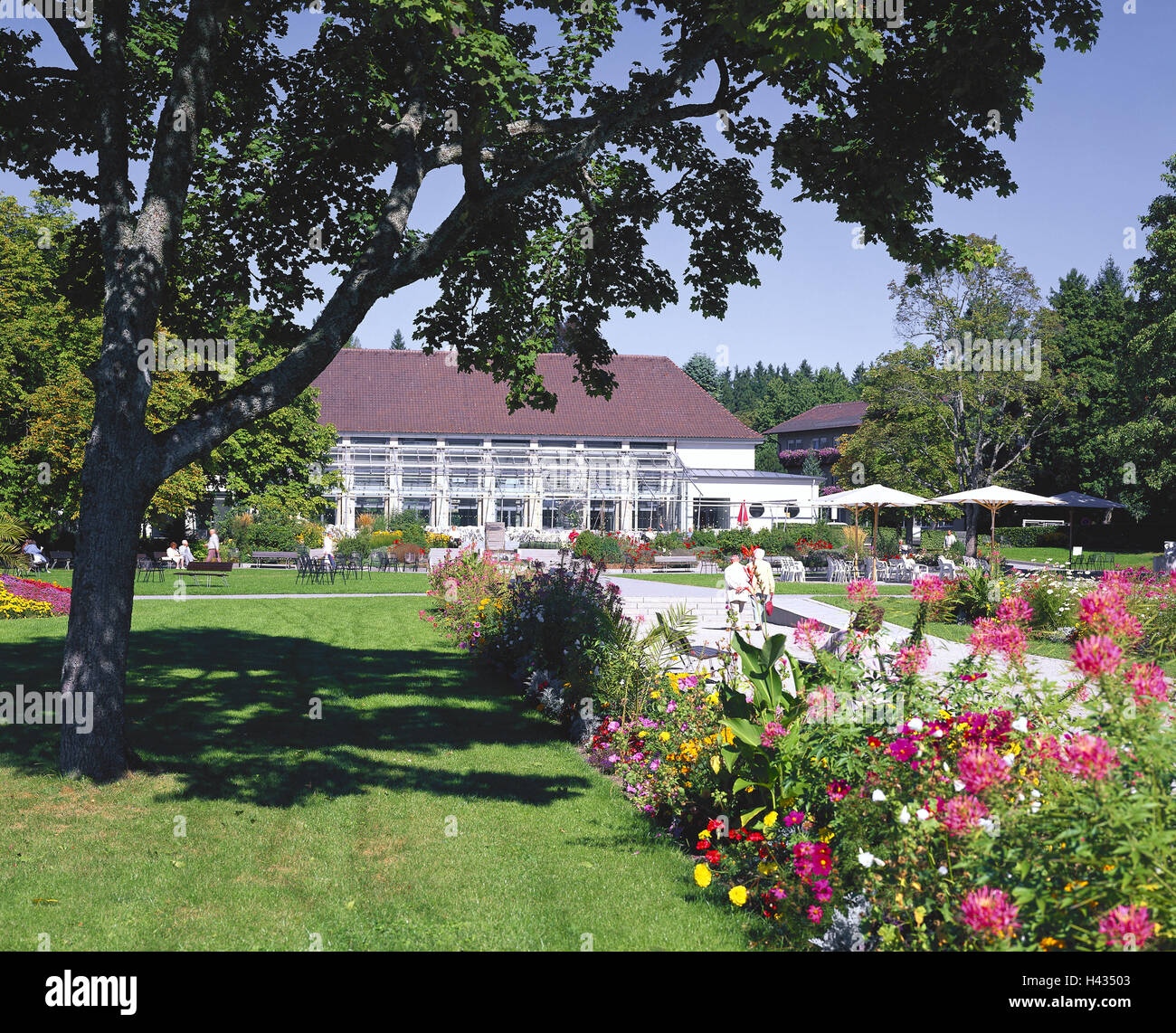 Germany Black Forest Bath Dry Home Health Resort House Park Person Baden Wurttemberg Building Spa Guests Tourists