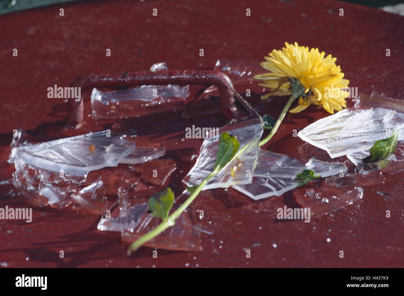Vase broken stock photos vase broken stock images alamy blossom chrysanthemum glass vase broken shards lie flower cut reviewsmspy