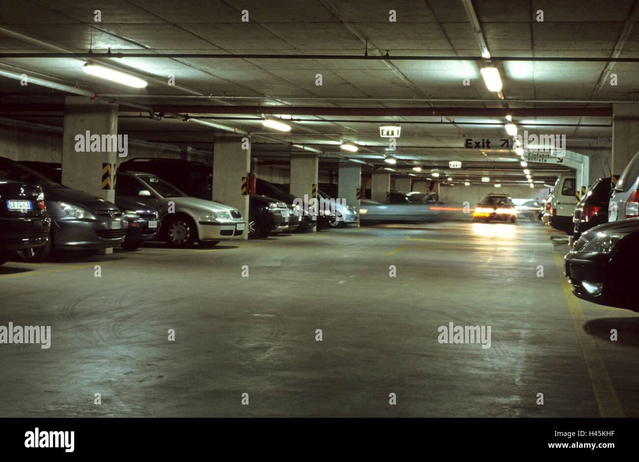 Underground Parking Car High Beam Go Garage Great