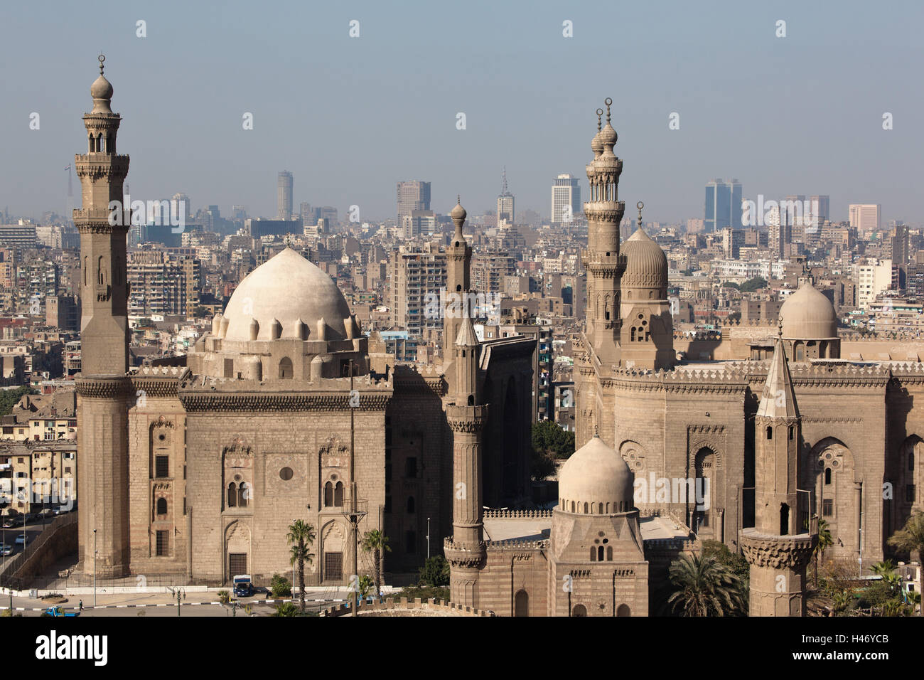 Egypt, Cairo, Citadel, View At Mosque Madrassa Of Sultan Hassan,
