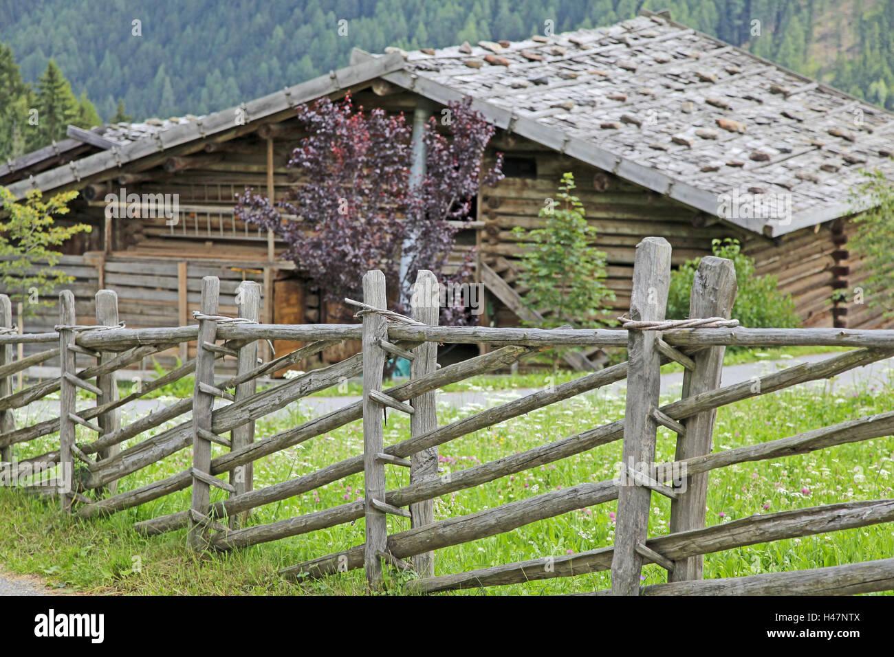 wooden farm fence. Wooden Fence, Mountain Farm, Wooden, Stick, Diagonally, Pole, Typically, Meadow, Pasture, Pawn House, Pawn, Old, Farm Fence