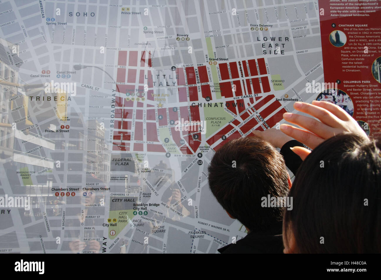 The USA New York City Manhattan Little Italy Chinatown City - Usa map in detail