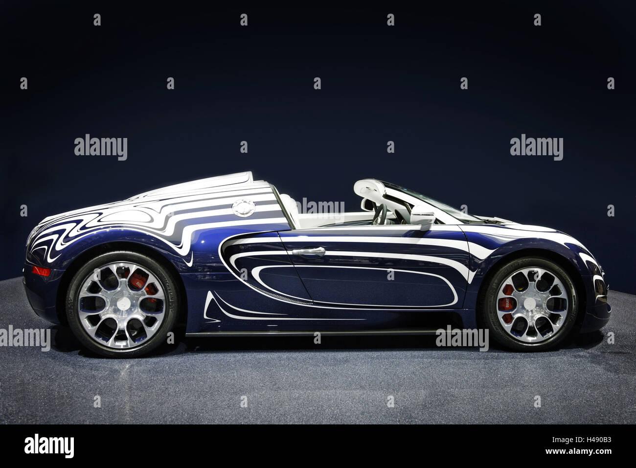 Super Sports Cars BUGATTI Veyron Grand Sport L `OR BLANC, Unique Piece,  Unique