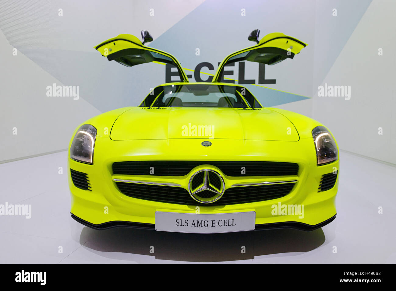 MercedesBenz SLS AMG ECell With Opened Gullwing Doors Electric - Sports cars international